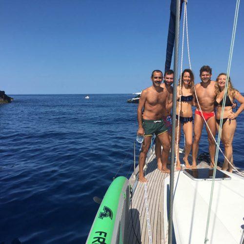 Barca a vela Eolie ad Agosto